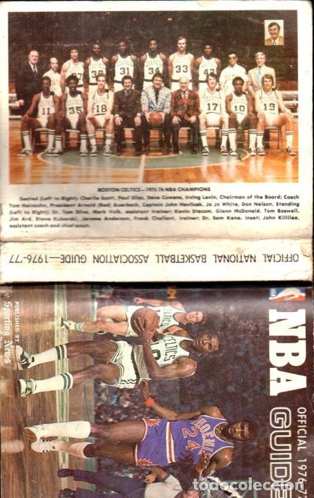 NBA OFFICIAL GUIDE 1976-77 (Coleccionismo Deportivo - Libros de Baloncesto)