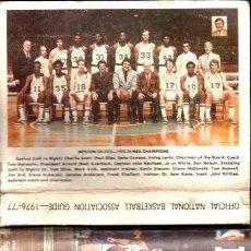 Coleccionismo deportivo: NBA OFFICIAL GUIDE 1976-77. Lote 195579020
