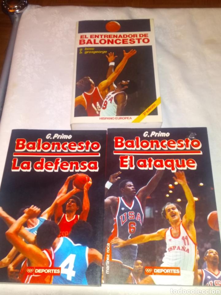 LOTE LIBROS BALONCESTO. LA DEFENSA Y EL ATAQUE DE G.PRIMO Y EL ENTRENADOR DE BALONCESTO. (Coleccionismo Deportivo - Libros de Baloncesto)