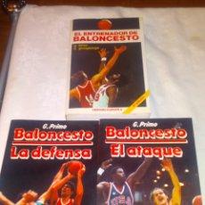 Coleccionismo deportivo: LOTE LIBROS BALONCESTO. LA DEFENSA Y EL ATAQUE DE G.PRIMO Y EL ENTRENADOR DE BALONCESTO.. Lote 195775902