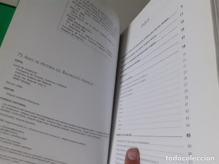 Coleccionismo deportivo: Libro 75 Años de Historia del Baloncesto Andaluz Editado por la Junta de Andalucía y Federación And - Foto 5 - 195970168