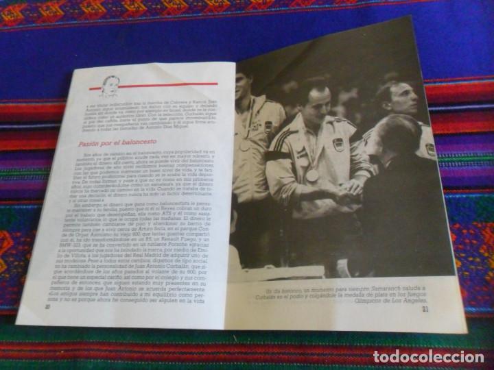 Coleccionismo deportivo: REAL MADRID CORBALÁN EL BALONCESTO ES SU VIDA. EDICIONES SIGLO CULTURAL 1986. 31 PGNS ILUSTRADAS. - Foto 7 - 197119575