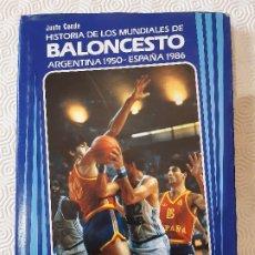 Colecionismo desportivo: HISTORIA DE LOS MUNDIALES DE BALONCESTO ARGENTINA 1959 - ESPAÑA 1986. BANCO EXTERIOR DE ESPAÑA.. Lote 198922327