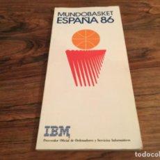 Colecionismo desportivo: GUÍA LIBRO MUNDOBASKET MUNDIAL BALONCESTO BASKETBALL ESPAÑA 1986 PATROCINADOR IBM. Lote 201142876