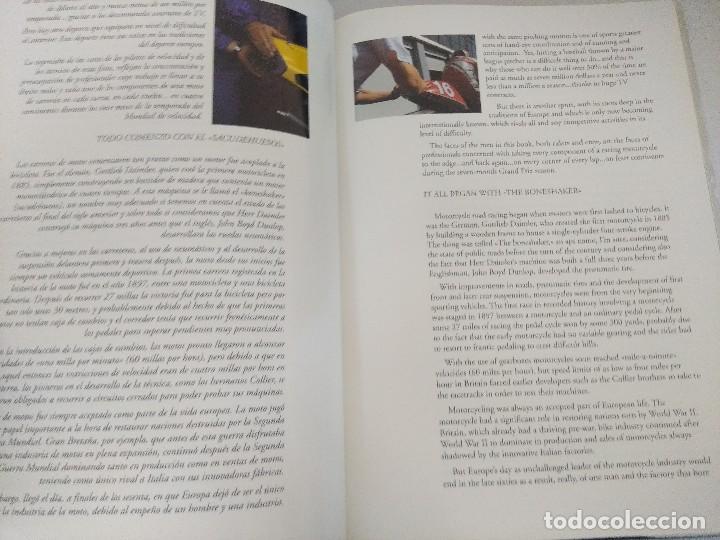 Coleccionismo deportivo: LIBRO MOTOCICLISMO/UN DIA EN LAS CARRERAS/EDICION NUMERADA. - Foto 6 - 209347373