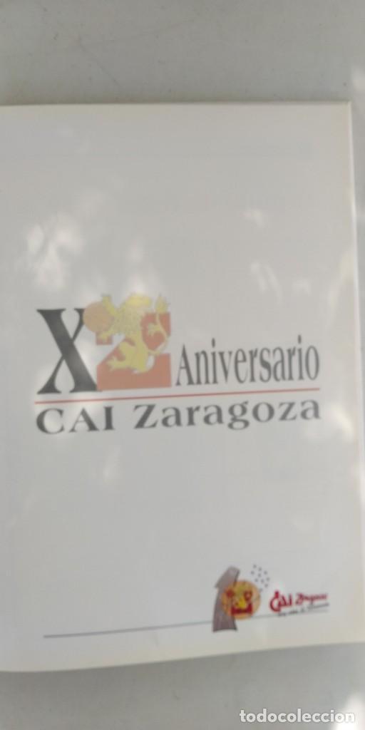 Coleccionismo deportivo: CAI ZARAGOZA DIEZ AÑOS DE BALONCESTO 1981 - 1991 GRAVOL 4 - Foto 4 - 215479755