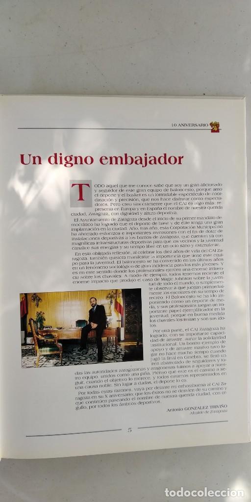 Coleccionismo deportivo: CAI ZARAGOZA DIEZ AÑOS DE BALONCESTO 1981 - 1991 GRAVOL 4 - Foto 6 - 215479755