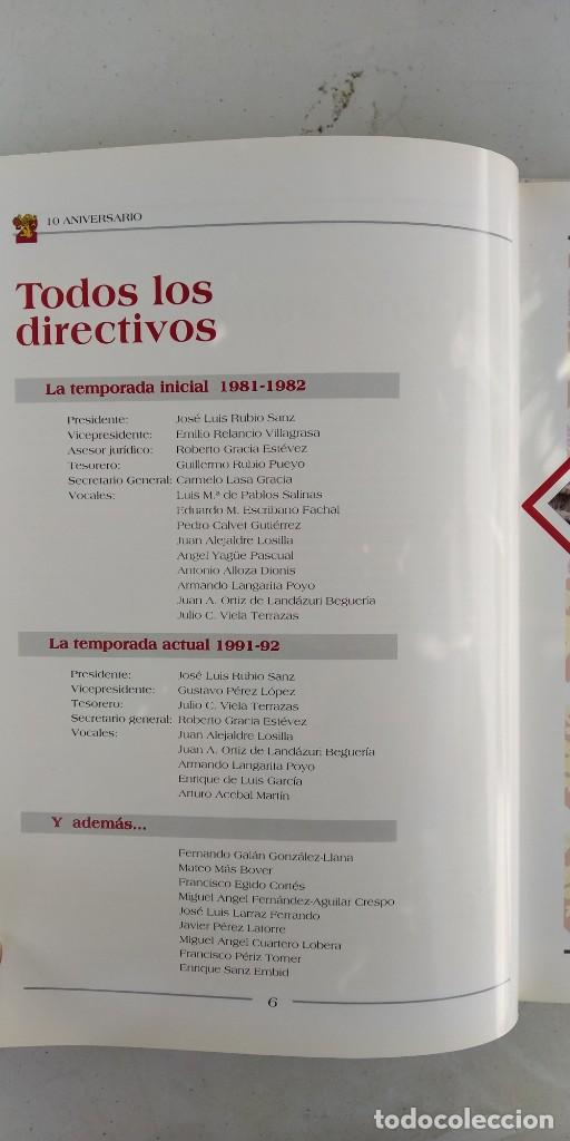 Coleccionismo deportivo: CAI ZARAGOZA DIEZ AÑOS DE BALONCESTO 1981 - 1991 GRAVOL 4 - Foto 7 - 215479755