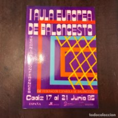 Coleccionismo deportivo: I AULA EUROPEA DE BALONCESTO. CÁDIZ 17 AL 21 DE JUNIO DE 1985 (INGLÉS). Lote 217895222