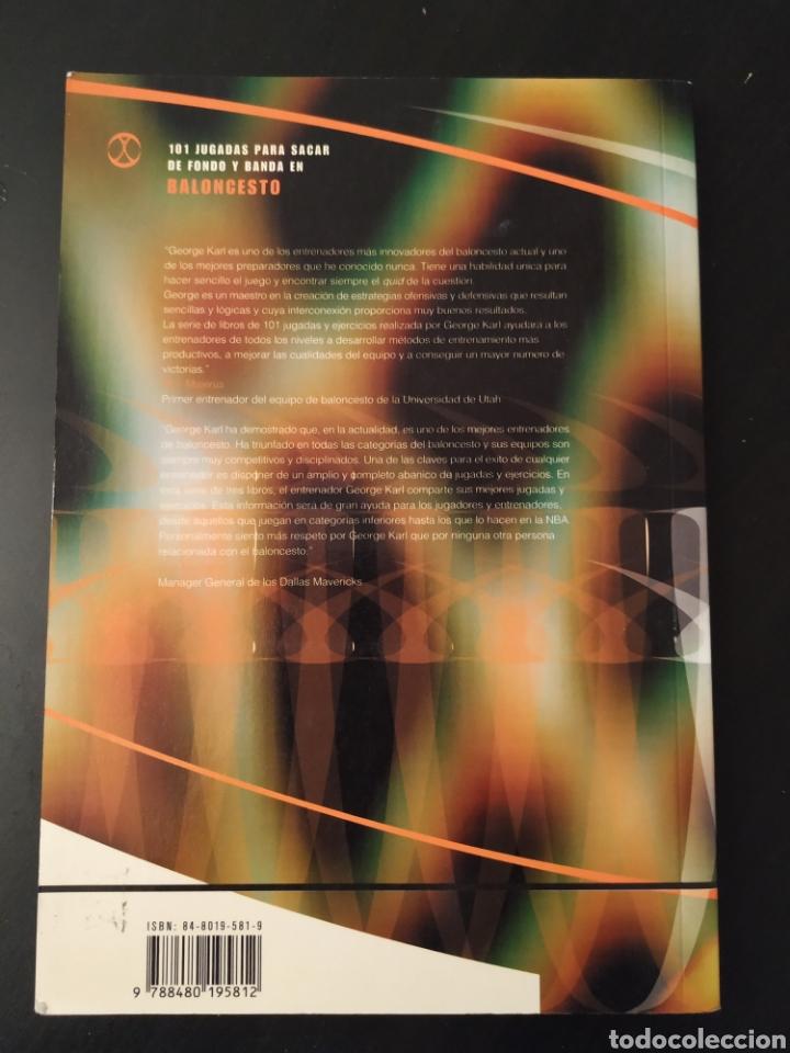 Coleccionismo deportivo: Libro.101 JUGADAS PARA SACAR DE FONDO Y BANDA EN BALONCESTO.George Karl,Terry Stotts,Price Johnson - Foto 2 - 218740722