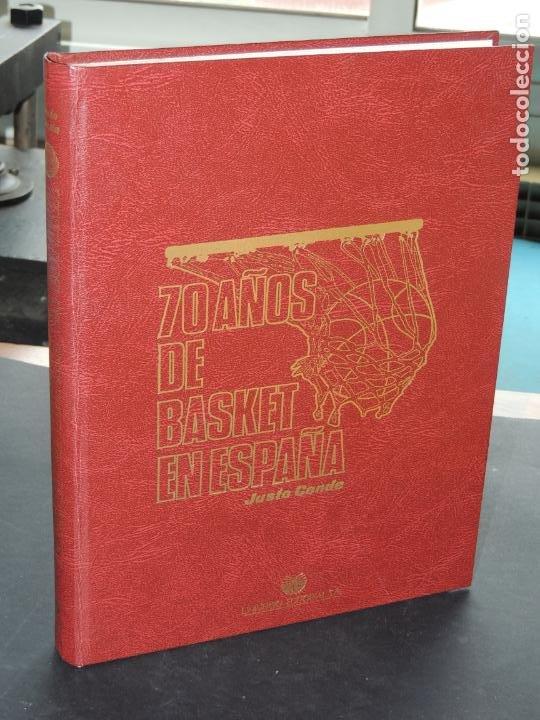 70 AÑOS DE BASKET EN ESPAÑA.- JUSTO CONDE (Coleccionismo Deportivo - Libros de Baloncesto)