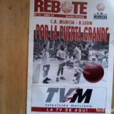 Coleccionismo deportivo: FANZINE REBOTE C.B. MURCIA NÚMERO 13 ABRIL 95. Lote 222553741