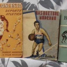 Coleccionismo deportivo: BALONCESTO LOTE DE 3 LIBROS ANTIGUOS VER FOTOS. Lote 223261747