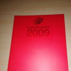 Coleccionismo deportivo: EUROBASKET 2009 - LA PRIMERA VEZ, UN SUEÑO HECHO REALIDAD. INCLUYE CD O DVD. Lote 226172300