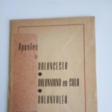 Coleccionismo deportivo: APUNTES BALONCESTO, BALONMANO EN SALA, BALONVOLEA. Lote 234857270