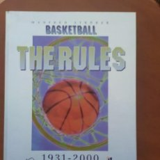 Coleccionismo deportivo: LIBRO BASKETBALL RULES 1931-2000. Lote 238408340