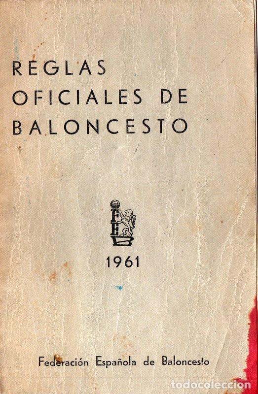 REGLAS OFICIALES DE BALONCESTO 1961 (Coleccionismo Deportivo - Libros de Baloncesto)