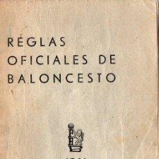 Coleccionismo deportivo: REGLAS OFICIALES DE BALONCESTO 1961. Lote 243071415