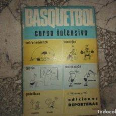 Coleccionismo deportivo: BASQUETBOL CURSO INTENSIVO, J.VAZQUEZ Y VIC, EDICIONES DEPORTEMAS, 1968,. Lote 243566170