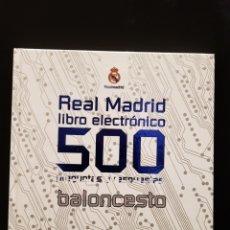Coleccionismo deportivo: REAL MADRID LIBRO ELECTRÓNICO 500 PREGUNTAS Y RESPUESTAS. EVEREST. 2009. Lote 244021035