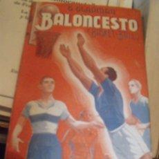 Coleccionismo deportivo: BALONCESTO ( BASKET-BALL) G. GLADMAN 1943 LIBRERIA SINTES BARCELONA. Lote 252574865