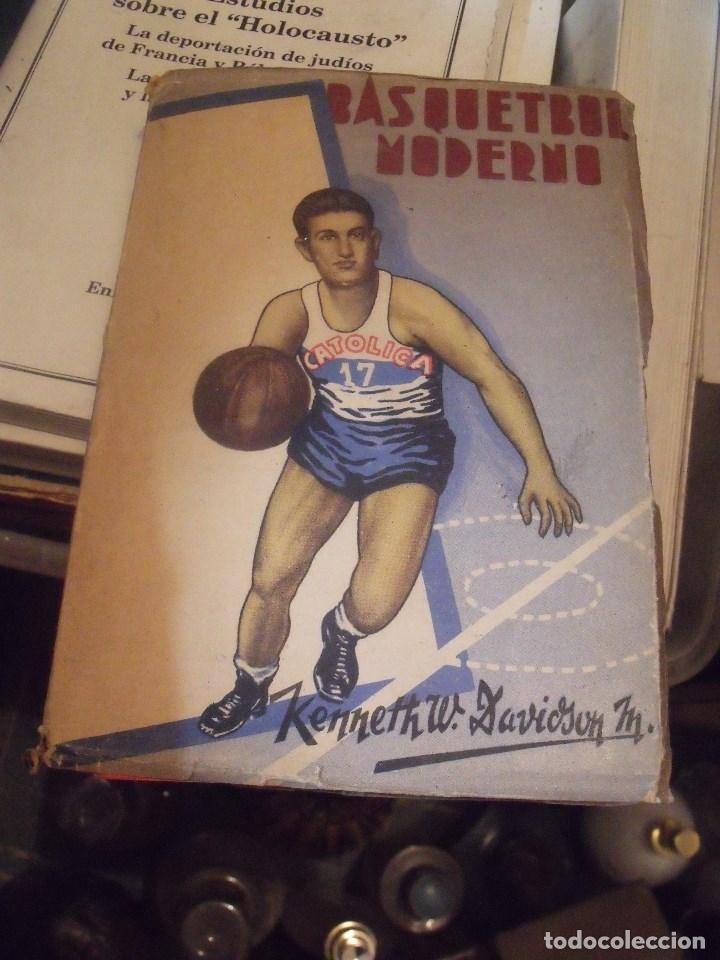 BASQUETBOL MODERNO DAVIDSON SANTIAGO DE CHILE 1950 (Coleccionismo Deportivo - Libros de Baloncesto)