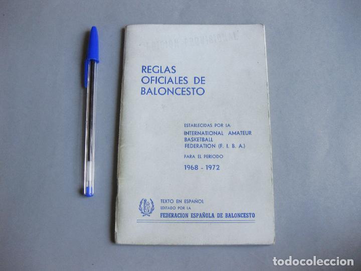 REGLAS OFICIALES DE BALONCESTO - FEDERACIÓN ESPAÑOLA DE BALONCESTO 1964 1968 (Coleccionismo Deportivo - Libros de Baloncesto)
