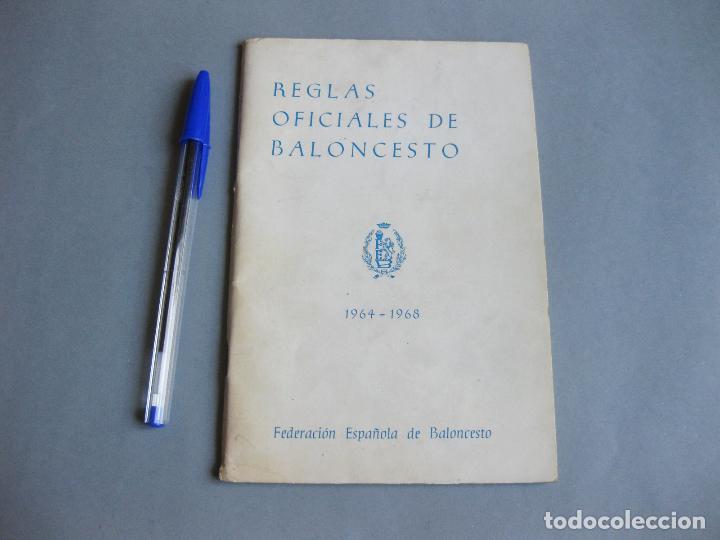 REGLAS OFICIALES DE BALONCESTO - FEDERACIÓN ESPAÑOLA DE BALONCESTO 1968 1972 (Coleccionismo Deportivo - Libros de Baloncesto)