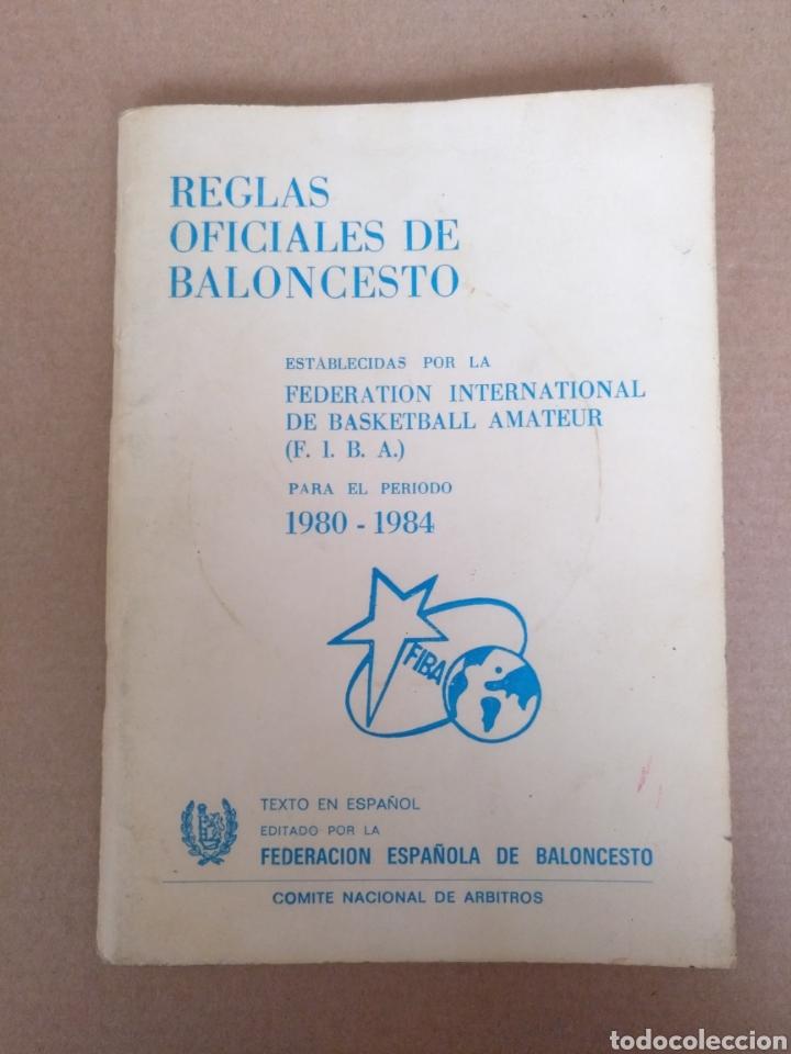 REGLAS OFICIALES DE BALONCESTO 1980 - 84 FIBA. FEDERACION ESPAÑOLA DE BALONCESTO. LIBRO (Coleccionismo Deportivo - Libros de Baloncesto)