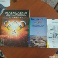 Coleccionismo deportivo: GUÍA, PROGRAMA Y FOLLETO BARCELONA 92. Lote 262146400