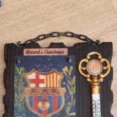Coleccionismo deportivo: ANTIGUO TERMOMETRO DE PARED DEL F.C. BARCELONA (RF). Lote 269804483