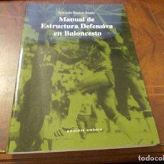 Coleccionismo deportivo: MANUAL DE ESTRUCTURA DEFENSIVA EN BALONCESTO. ANTONIO BARROS SENÍN. ED. EMBORA 1ª ED. 2.000. Lote 277275033