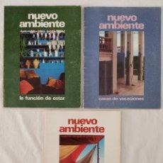 Coleccionismo deportivo: ARQUITECTURA DISEÑO FOTOGRAFÍA REVISTA NUEVO AMBIENTE 1973 MILÁ BOHIGAS SERT MACKAY A. BONET.... Lote 282208628