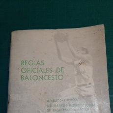 Coleccionismo deportivo: REGLAS BALONCESTO 1968/1972 FEDERACIÓN ESPAÑOLA DE BALONCESTO. Lote 287850163