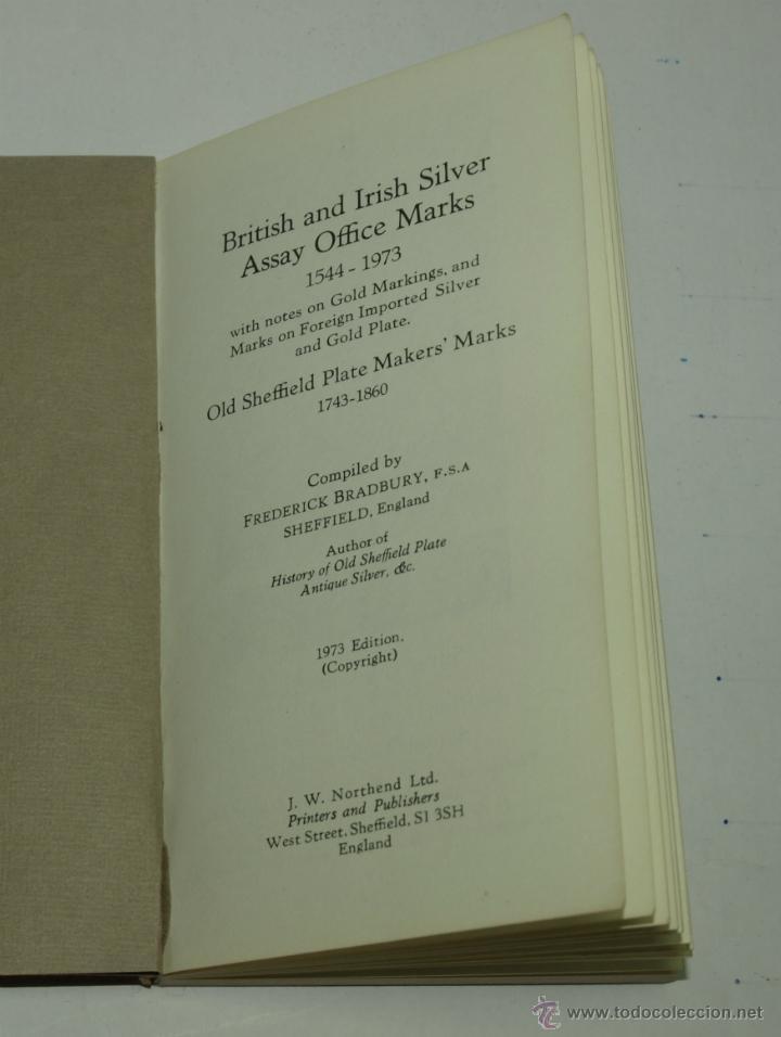 Libros: GUIA DE MARCAS DE PLATA -GUIDE TO MARKS OF ORIGIN ON BRITISH AN IRISH SILVER PLATE-1973 - Foto 2 - 46814964