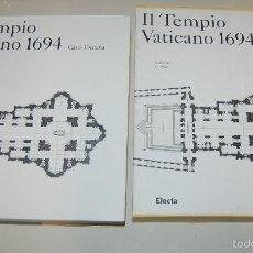 Libri: MAGNIFICO LIBRO CATALOGO IL TEMPIO VATICANO 1694 CARLO FONTANA ED. ELECTA. Lote 56552837