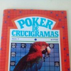 Libros: POKER DE CRUCIGRAMAS N'7 AÑO 1979 NUEVO. Lote 66626043
