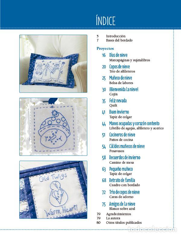 Libros: Bordados y patchwork con motivos invernales. Más de 20 proyectos bordados en bluework - Robin Kingsl - Foto 2 - 68999369