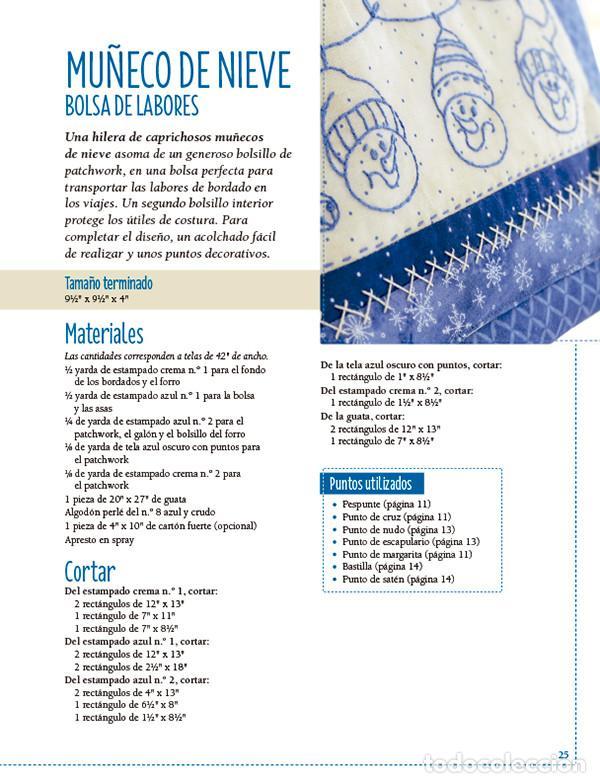 Libros: Bordados y patchwork con motivos invernales. Más de 20 proyectos bordados en bluework - Robin Kingsl - Foto 3 - 68999369