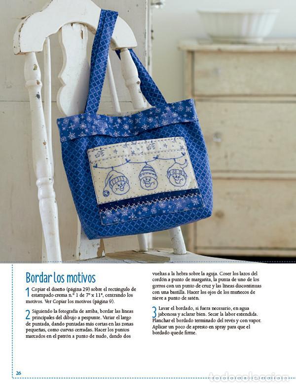 Libros: Bordados y patchwork con motivos invernales. Más de 20 proyectos bordados en bluework - Robin Kingsl - Foto 4 - 68999369