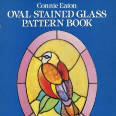 Libri: OVAL STAINNED GLASS PATTERN BOOK. Lote 94224835