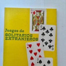 Libros: JUEGOS DE SOLITARIOS EXTRANJEROS.. Lote 95225595