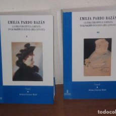 Libros: JULIA SINOVAS MATÉ. EMILIA PARDO BAZÁN. OBRA PERIODÍSTICA EN BUENOS AIRES. 2 VOLS. LA CORUÑA, 1999.. Lote 105755851