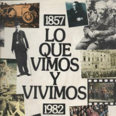 Libros: 1857 - 1982 - LO QUE VIMOS Y VIVIMOS - 125 AÑOS - BANCO DE BILBAO. Lote 111287007