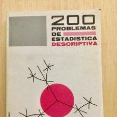 Libros: 200 PROBLEMAS DE ESTADÍSTICA DESCRIPTIVA. VICENS VIVES. NUEVO SIN USAR. Lote 112635703