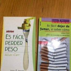 Libros: ES FACIL DEJAR DE FUMAR Y ES FACIL PERDER PESO SI SABES COMO LOTE 2 LIBROS. Lote 133875622