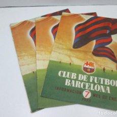 Libros: LOTE 3 REVISTAS CLUB FUTBOL BARCELONA - ENERO, FEBRERO Y MARZO AÑO 1955. Lote 135761594