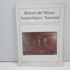 Libros: LIBRO BOLETIN DEL MUSEO ARQUEOLOGICO NACIONAL TOMO I, Nº2 AÑO 1983. Lote 135773826