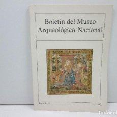Libros: LIBRO BOLETIN DEL MUSEO ARQUEOLOGICO NACIONAL TOMO I, Nº1 AÑO 1983. Lote 135774034