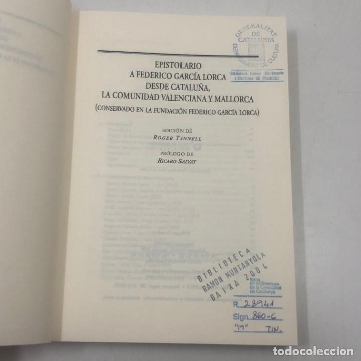 Libros: LIBRO A FEDERICO GARÍA LORCA DESDE CATALUÑA, LA COMUNIDAD VALENCIANA Y MALLORCA - Foto 2 - 135835282